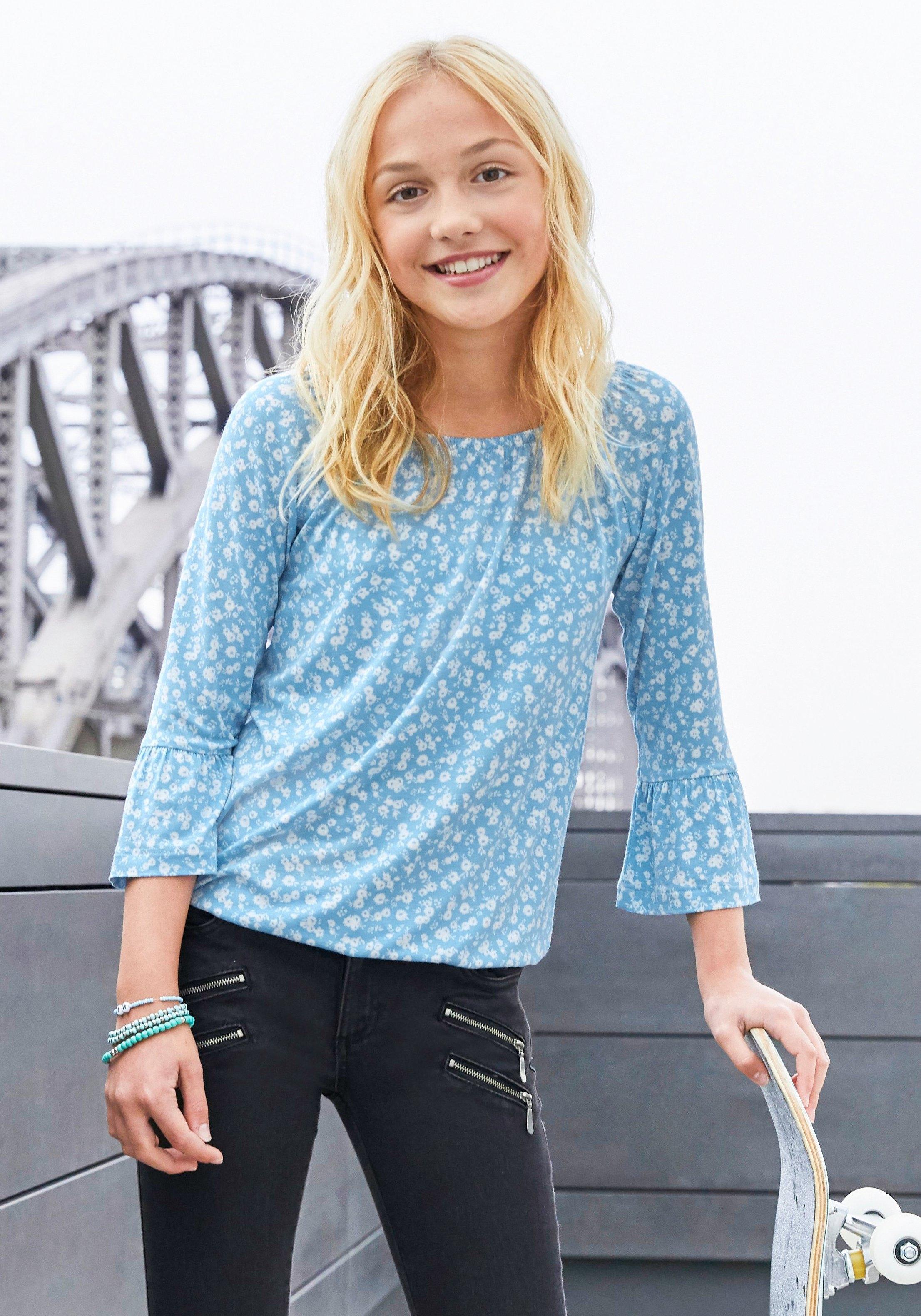 KIDSWORLD shirt met carmenhals met ruime hals voordelig en veilig online kopen