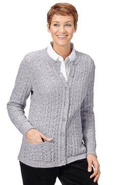 classic basics vest met een mooi vormgegeven ajourmotief voor grijs