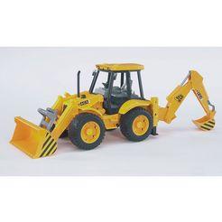 bruder speelgoed graafmachine jcb 4cx-laadschop made in germany geel