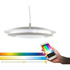 eglo hanglamp moneva-c hanglamp, eglo connect, bediening via app + afstandsbediening ,ble, cct, rgb, dimbaar, smart home, kleurwisseling zilver