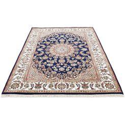 woven arts oosters tapijt nain met de hand geknoopt, woonkamer, zuivere wol blauw