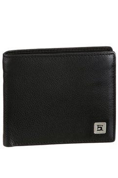 h.i.s portemonnee van zacht leer zwart