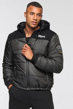 lonsdale gewatteerde jas botallack zwart