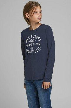 jack  jones junior shirt met lange mouwen »jjejeans tee ls crew nec« blauw