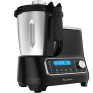 moulinex »hf4568 click chef« keukenmachine met kookfunctie zwart