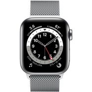 apple »series 6 gps + cellular, edelstahlgehaeuse mit milanaise armband 40mm« watch zilver
