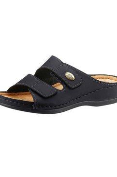 classic slippers met 2 klittenbandsluitingen zwart