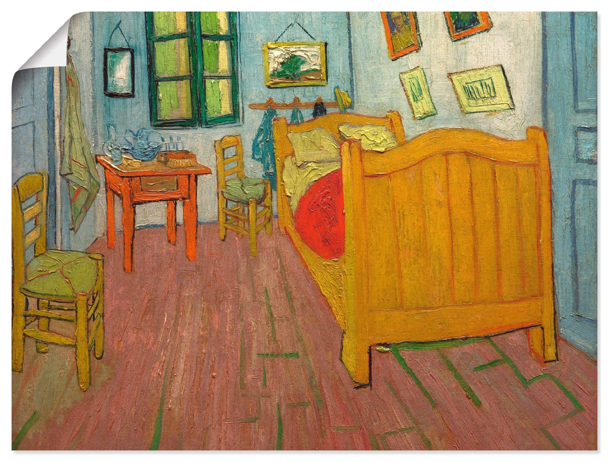 Artland Artprint De slaapkamer in vele afmetingen & productsoorten -artprint op linnen, poster, muursticker / wandfolie ook geschikt voor de badkamer (1 stuk) nu online bestellen