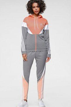 adidas performance trainingspak women colorblock tracksuit roze