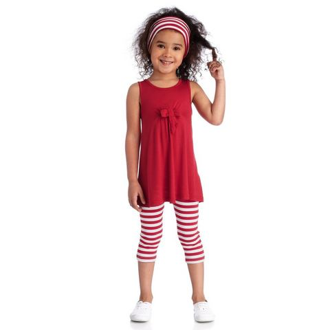 Set: jurk, legging en haarband, Kidoki