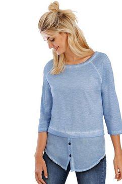 linea tesini by heine shirt met ronde hals blauw