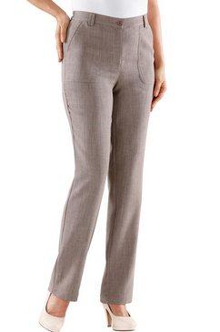 broek in linnen-look bruin
