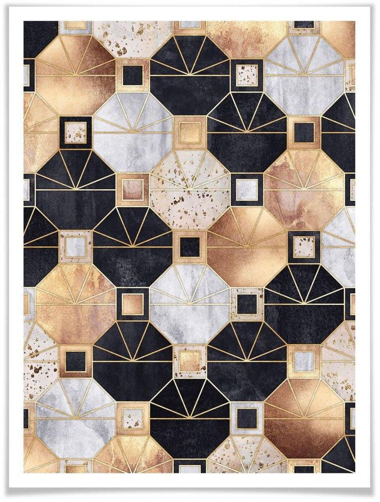 Wall-Art poster Goud zwart abstract (1 stuk) veilig op otto.nl kopen