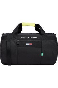tommy jeans weekendtas tjm essential duffle in sportief design zwart