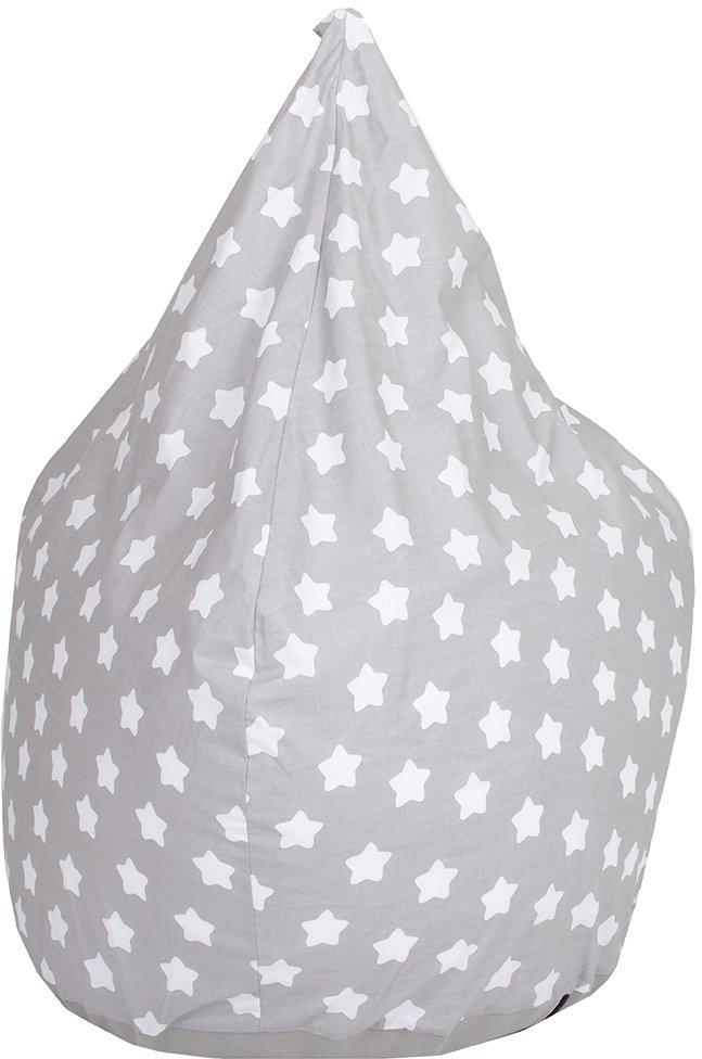 Knorrtoys Zitzak Drop, grey white stars voor kinderen; made in europe voordelig en veilig online kopen