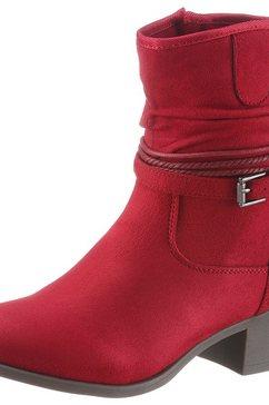 city walk cowboylaarsjes met sierriempje rood