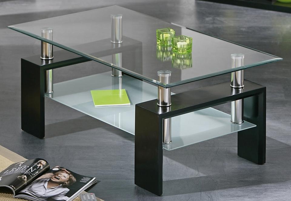 Salontafel met 2 glazen plateaus bij OTTO online kopen