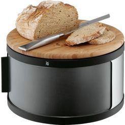 wmf broodtrommel met houten snijplank (1-delig) grijs