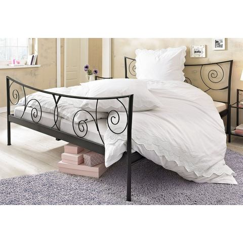 Metalen Bed zwart zwart Home Affaire 608818