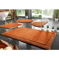badmat »kapra«, home affaire, hoogte 20 mm, geschikt voor vloerverwarming slijtvast, keerbaar oranje