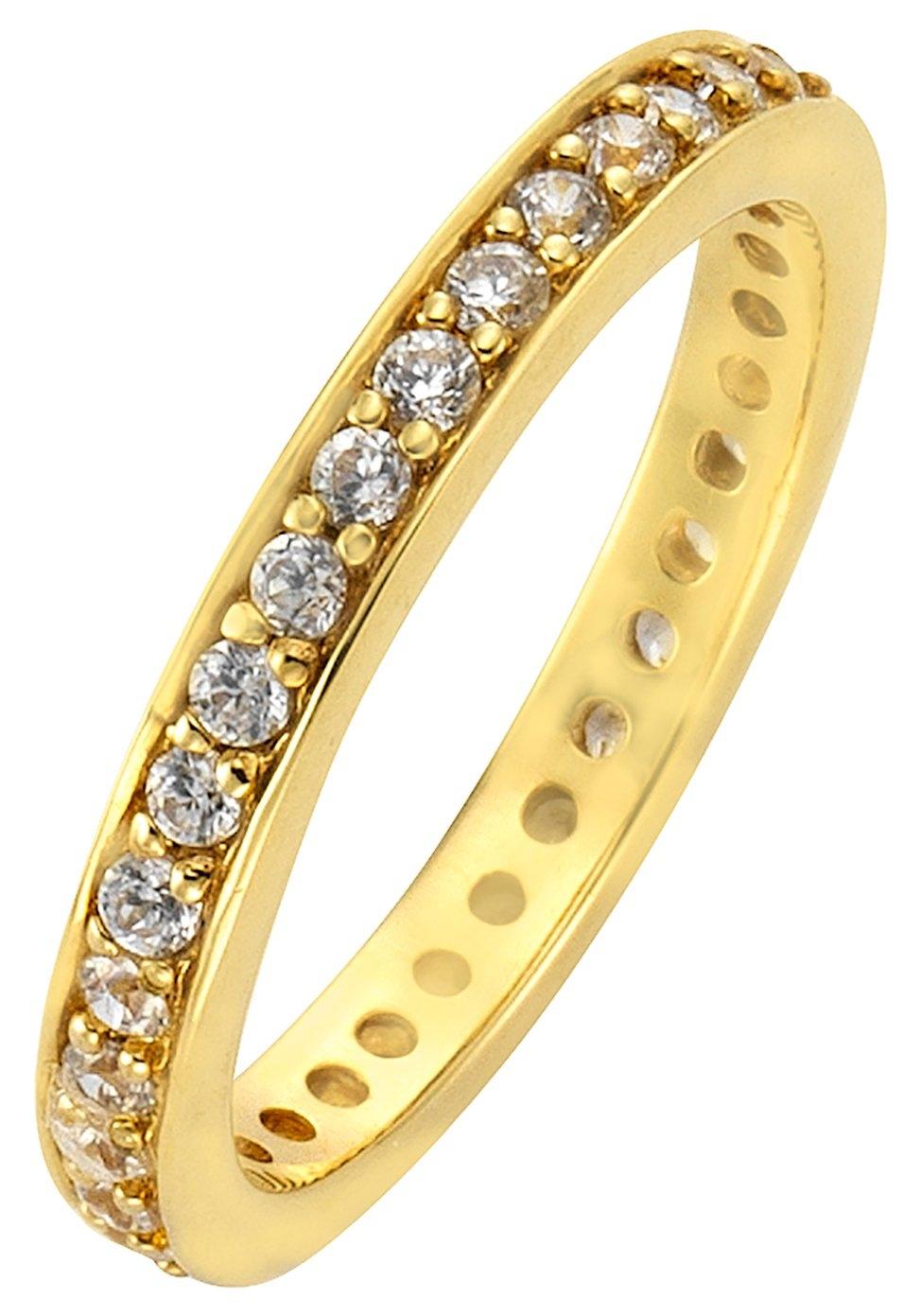 Op zoek naar een Firetti zilveren ring Memoire, chic, verguld, glans-look, massief met zirkoon? Koop online bij OTTO