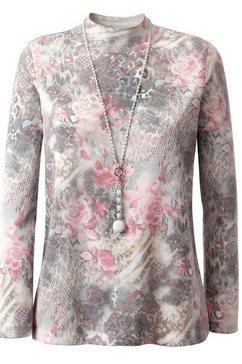 classic trui met staande kraag grijs