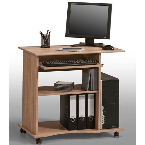 Computertafel Ene verrijdbaar eikenhoutkleurig, Maja Möbel
