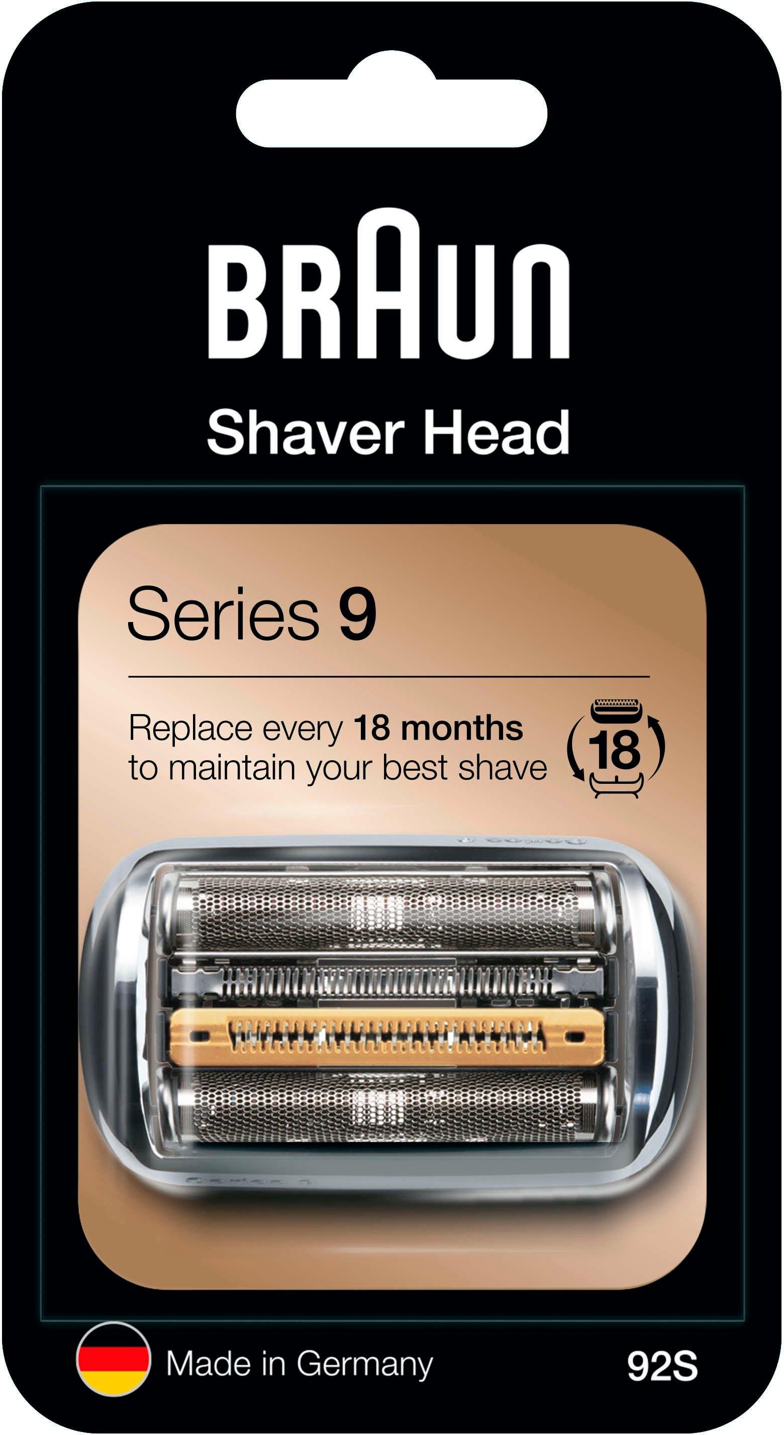 Braun reserveonderdeel 92 S, zilver, compatibel met Series 9 scheerapparaten voordelig en veilig online kopen