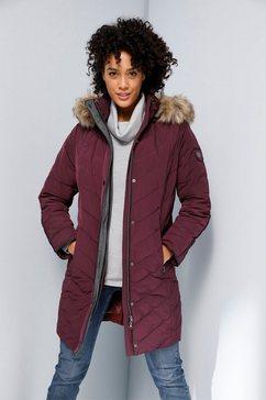 creation l premium doorgestikte jas rood