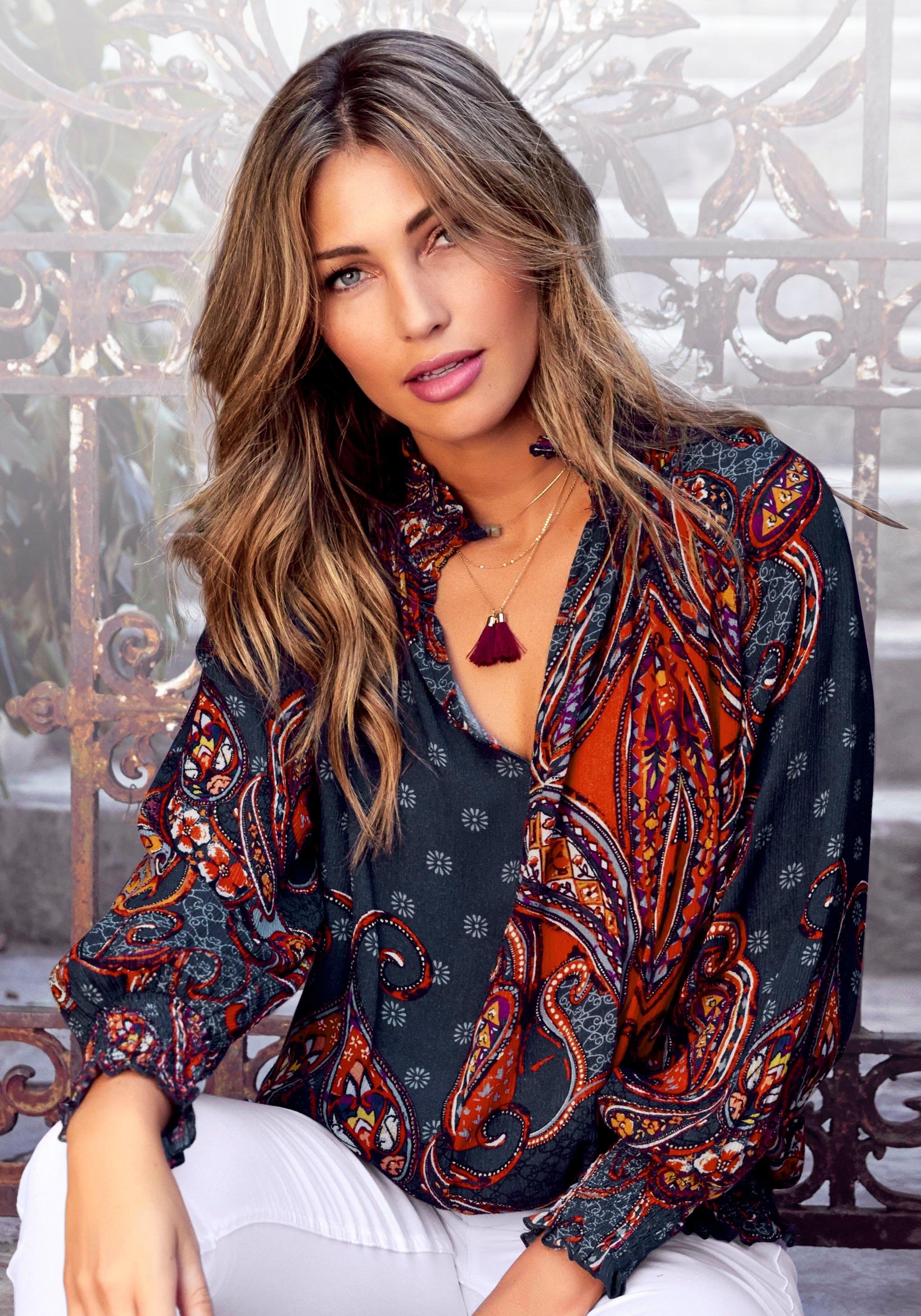 Lascana gedessineerde blouse bestellen: 30 dagen bedenktijd