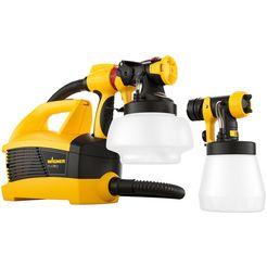wagner verfspuitsysteem »universal sprayer w 690 flexio«, inklusive 2 behaelter geel