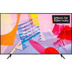 samsung 55q60t qled-televisie (138 cm - (55 inch), 4k ultra hd, smart-tv zwart
