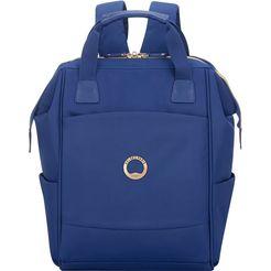 delsey laptoprugzak montrouge, blue met tsa-slot blauw