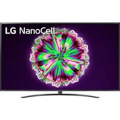 lg »75nano796nf« led-tv zwart