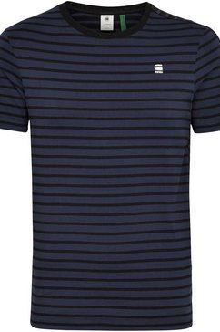 g-star raw shirt met ronde hals »korpaz stripe gr slim r t« blauw