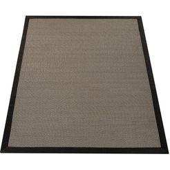 paco home vloerkleed »sisalo 270«, paco home, rechthoekig, hoogte 5 mm, machinaal geweven bruin