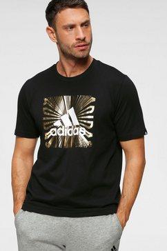 adidas performance t-shirt »extmo fl t« zwart