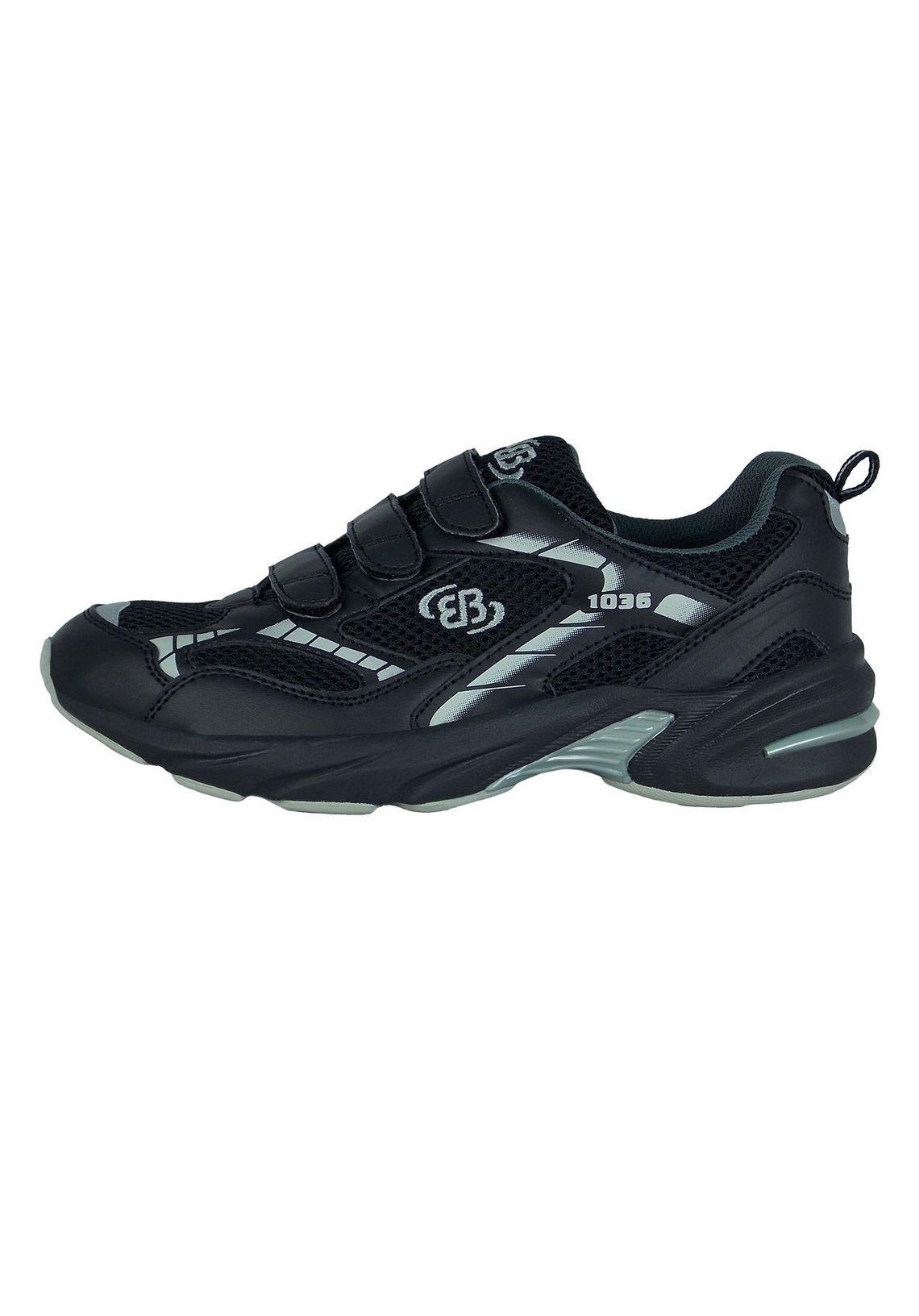 Brütting Joggingschoen met klittebandsluiting  FORCE V vind je bij  zwart/grijs