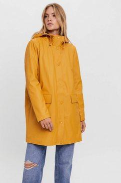 vero moda regenjas vmasta 3-4 teddy coated jacket geel