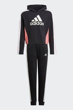 adidas performance trainingspak »colorblock crop top« zwart