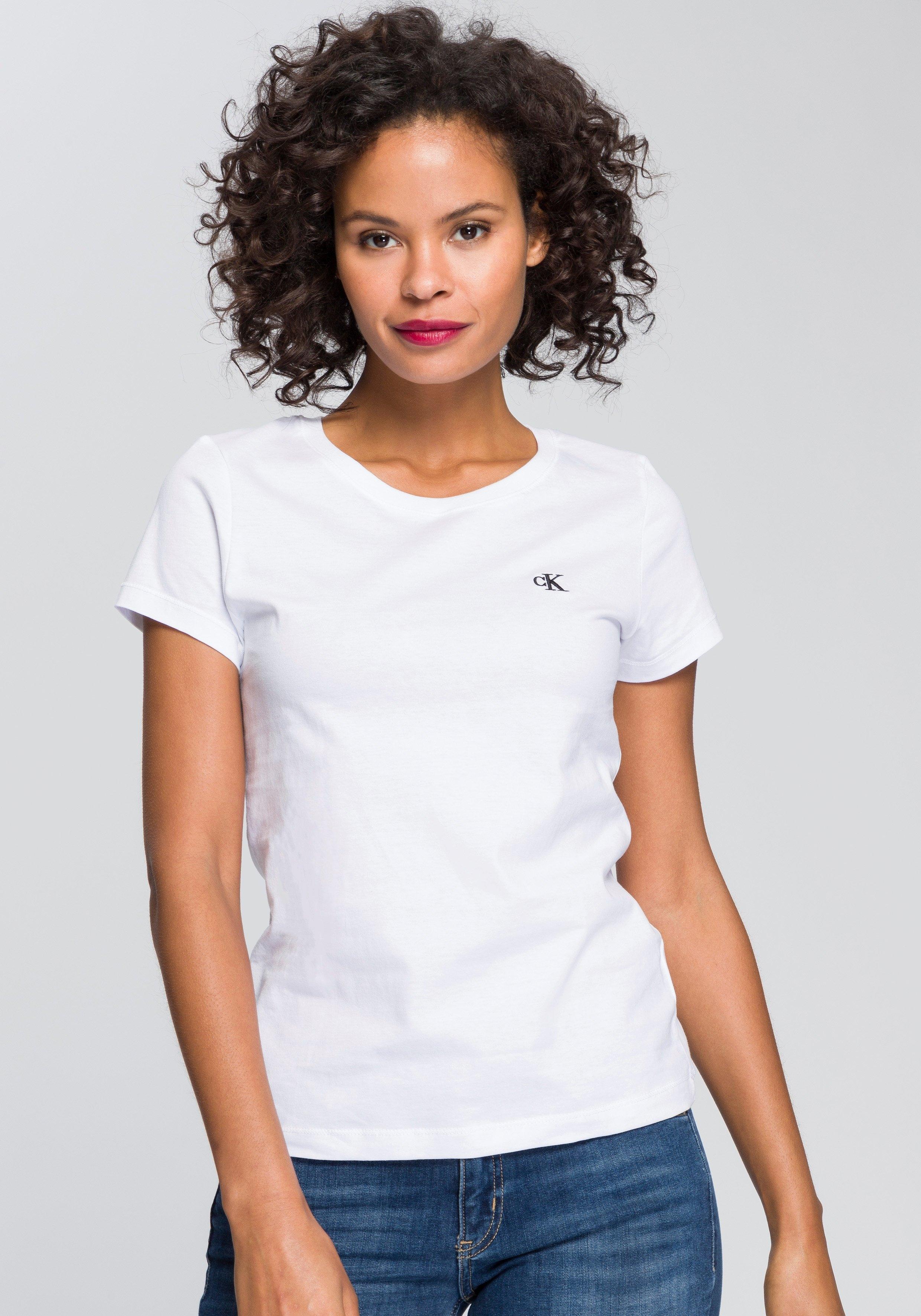 Calvin Klein T-shirt CK EMBROIDERY SLIM TEE met geborduurd ck-logo op borsthoogte bij OTTO online kopen