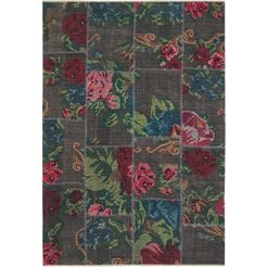 nouristan vloerkleed kelim patchwork sofia orint-look, woonkamer multicolor