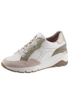 jana sneakers met sleehak wit