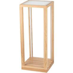 spot light led-tafellamp tavoli glass led bijzettafel, tafelblad van glas, met geïntegreerde 24v-ledmodule en touch dimmer, van eikenhout, natuurproduct fsc-gecertificeerd, made in europe wit