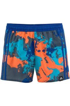 adidas performance zwemshort met trendy camouflagemotief blauw