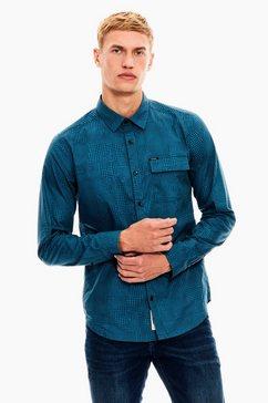 garcia overhemd met lange mouwen blauw