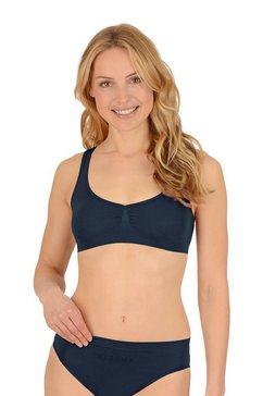 trigema damesbustier »naadloos ondergoed van de microvezel sensil« blauw