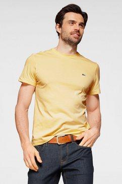lacoste t-shirt van puur katoen geel