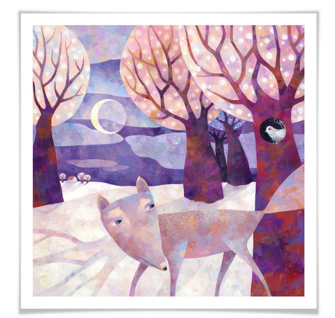 Wall-Art poster Sprookje artprints winters bos Poster, artprint, wandposter (1 stuk) in de webshop van OTTO kopen