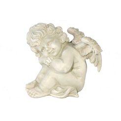 casa collection by jaenig engelfiguur »engel, haende auf die knie gestuetzt, h 16 cm« (1 stuk) wit